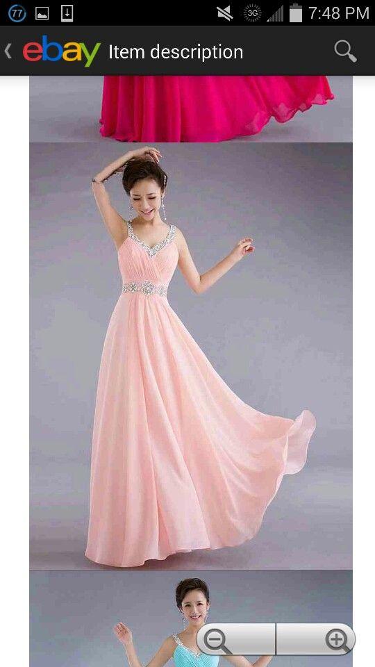 Magnífico Ebay Vestidos De Dama De Honor De Color Rosa Elaboración ...