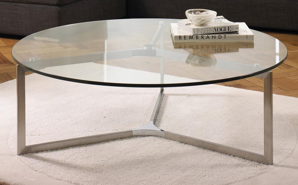 Circular Coffee Table Gl Top Tables Round