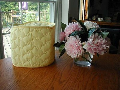 Yellow 4 Qt Crockpot Appliance Cover Round Solid Quilted Fabric Few Left Appliance Covers Easy Crockpot Cover