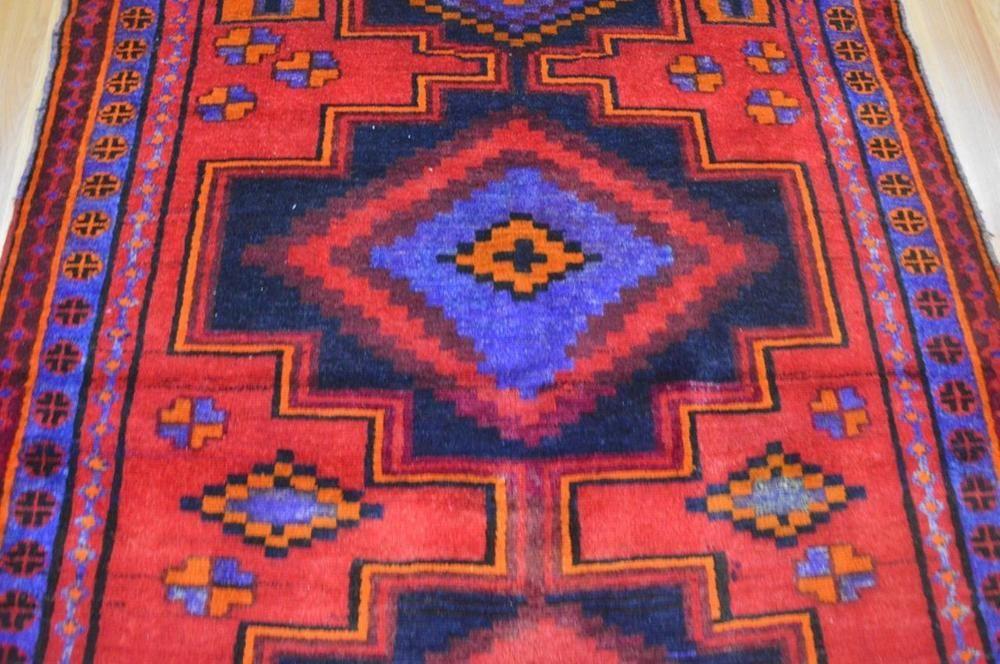 4 9 X 6 8 Bright Colors Geometric Genuine Persian Tribal Handmade Wool Area Rug Ebay Wool Area Rugs Rugs Area Rugs