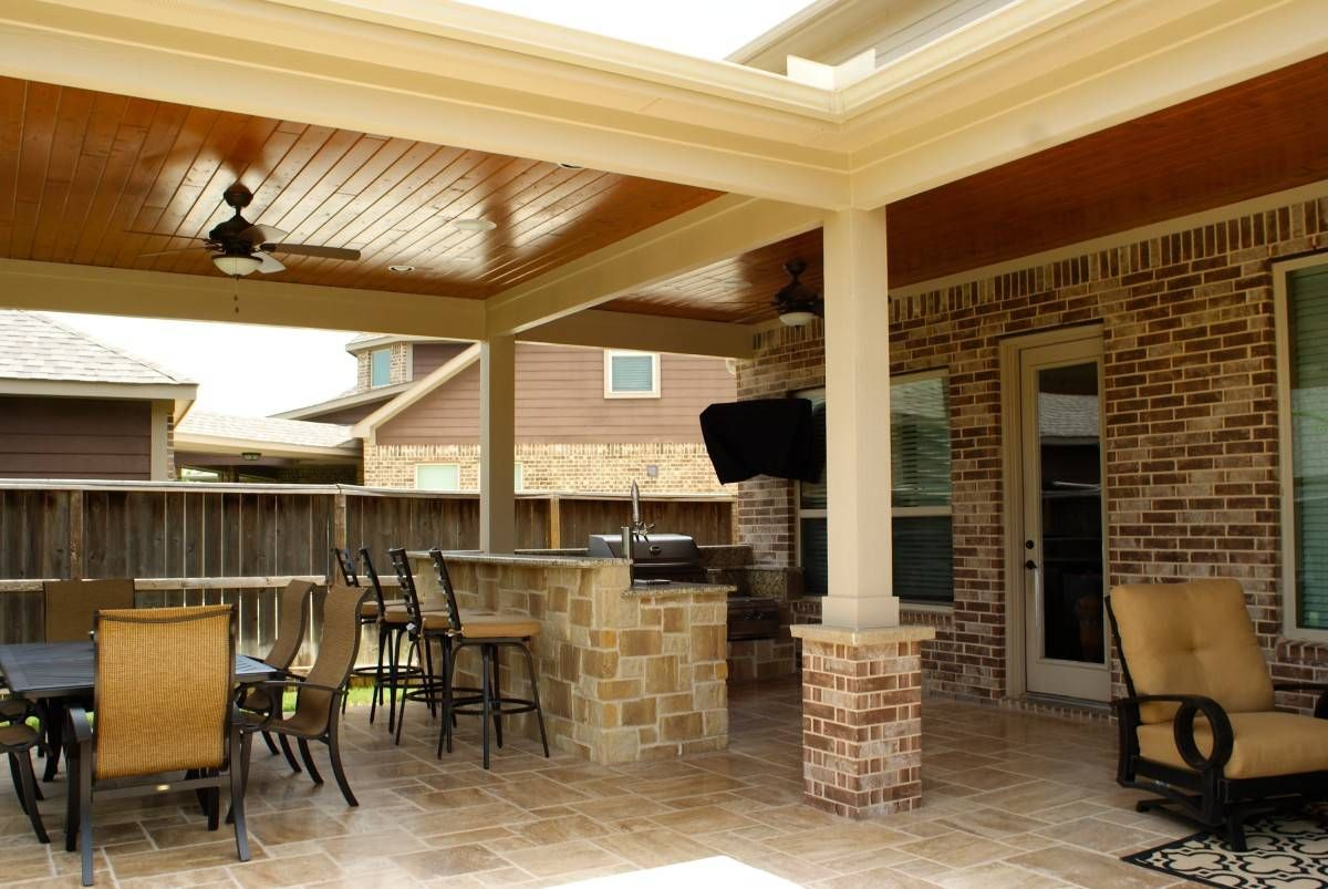 Extended patio cover Katy | Backyard patio designs ... on Extended Covered Patio Ideas id=49358