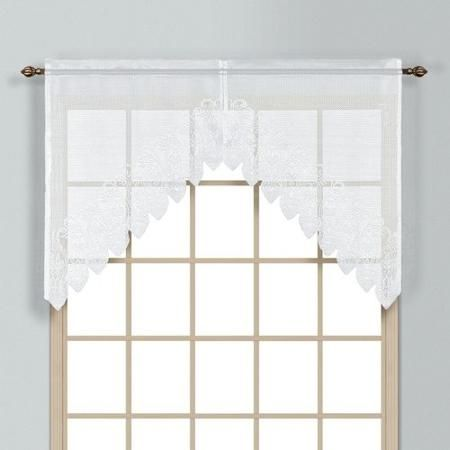 United Curtain Company VAL38 Valerie Window Swag (Set of 2)