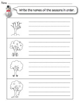 four seasons printable worksheet homeschooling adventures four seasons seasons kids writing. Black Bedroom Furniture Sets. Home Design Ideas