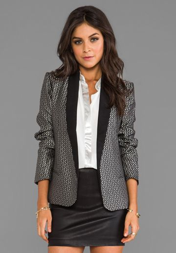 7aa50326631e8 BB DAKOTA Harriet Jacquard Lapel Blazer in Black at Revolve Clothing - Free  Shipping!