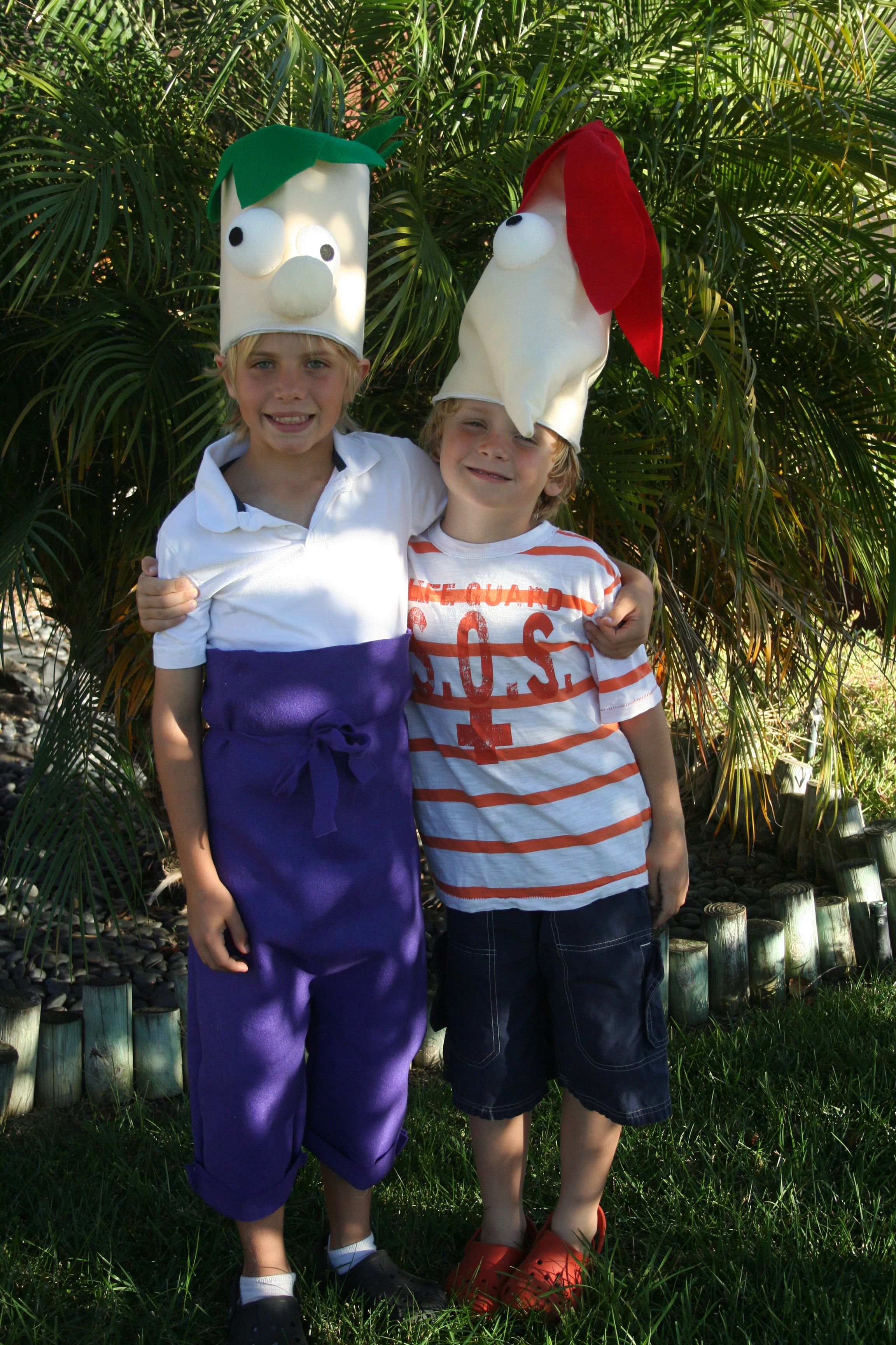 home made phineas and ferb halloween costumes | costumes | pinterest