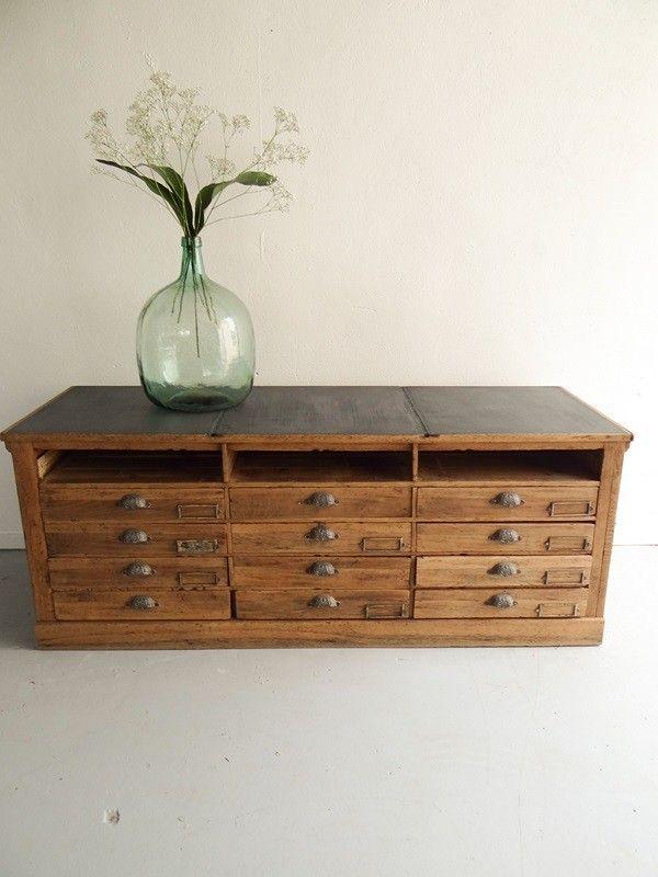 tiroirs ancien et vintage meuble