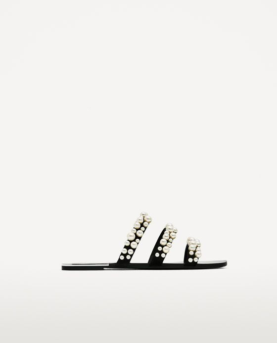 Image 2 of PEARLY STRAPPY SANDALS from Zara
