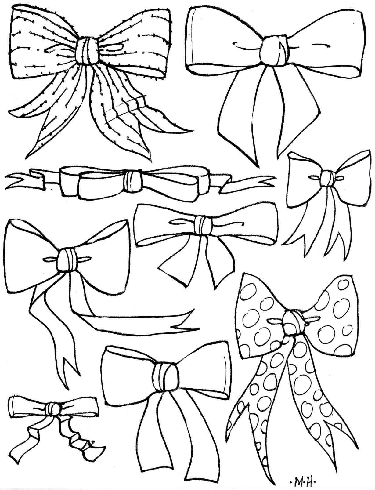 Hair Bow Color Page Another Found Here Http Www Shirleysmithduke Com Images Bowscoloring2 Pdf Pattern Coloring Pages Coloring Pages Embroidery Patterns