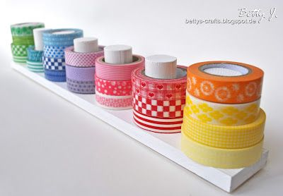 diy washi tape stand with simple video tutorial diy. Black Bedroom Furniture Sets. Home Design Ideas