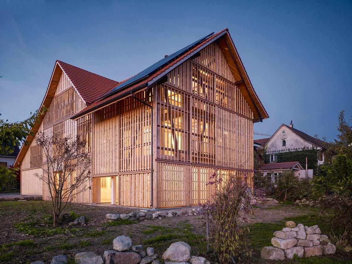 Haus In Einer Scheune Ruckbau Haus Mit Scheune Battig Stocker