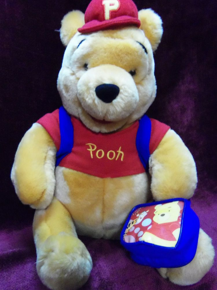 Winnie The Pooh  Plush Animal With Lunch And Tote Bag Exclusive for Disney Find Me At www.secondhanddelights.com