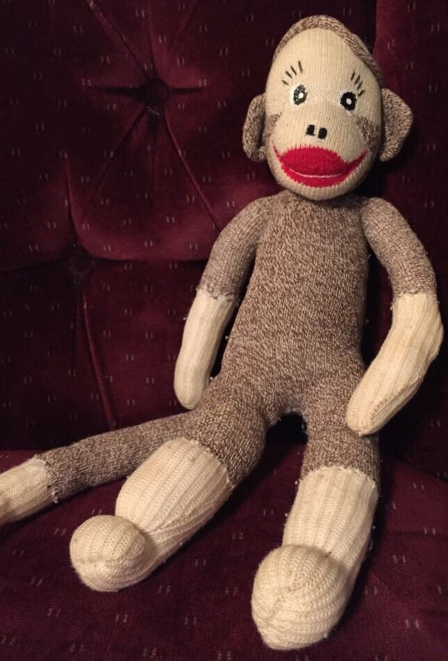 Monkey With Red Lips : monkey, Vintage, Monkey, Brown, White, Handmade, Decorative, Decor, Monkey,, Dolls,, Animals