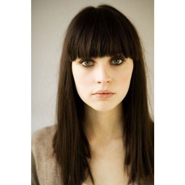 Dark Brown Hair With Bangs Found On Polyvore I N S P I R