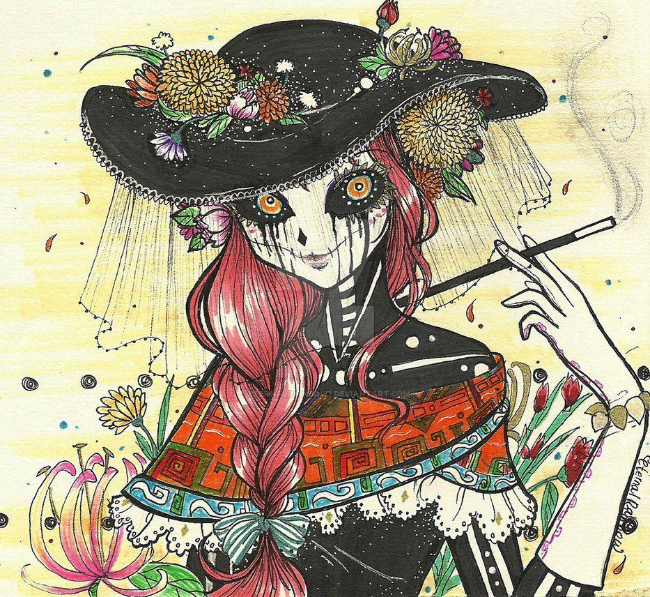 La Catrina By Eternalrainbow7 On Deviantart La Catrina  # Moka Muebles Ocotlan