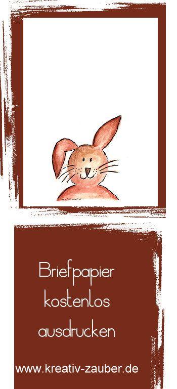 hasenbriefpapier  briefpapier zum ausdrucken