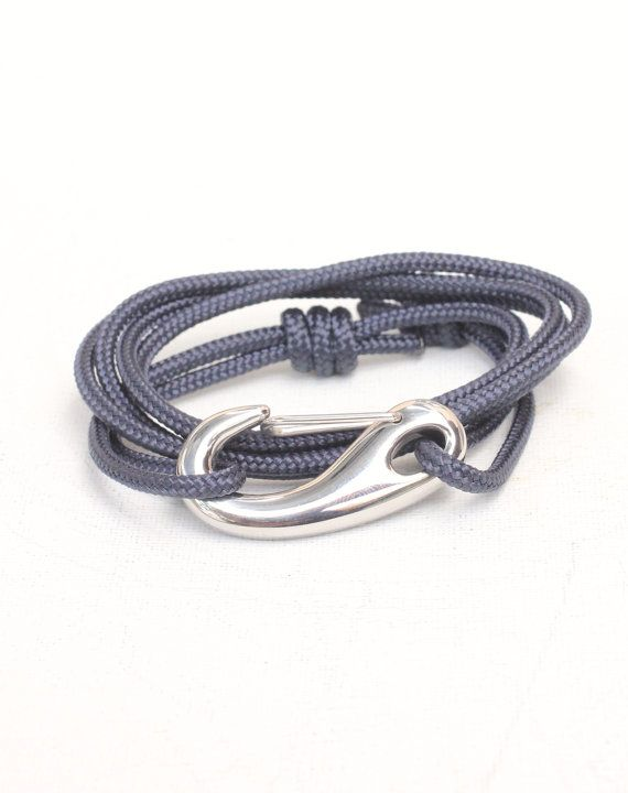 Hey, I found this really awesome Etsy listing at http://www.etsy.com/listing/153790430/navy-nautical-rope-bracelet-mens