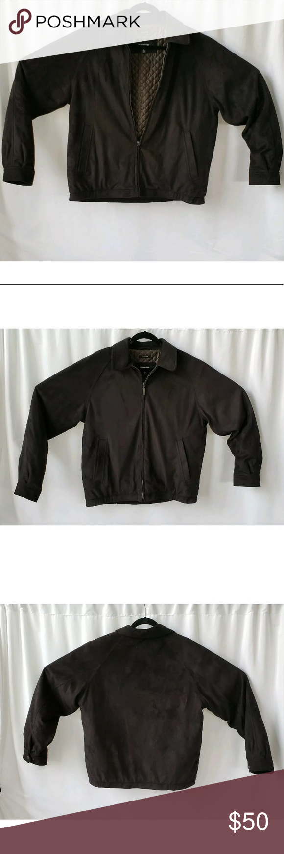 Claiborne Outerwear Microsuede Quilted Line Jacket Line Jackets Clothes Design Claiborne [ 1740 x 580 Pixel ]