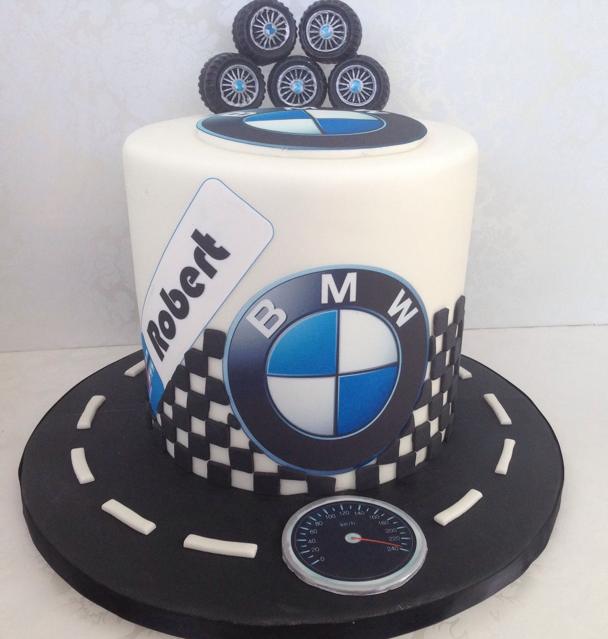 My Friend Roberts BMW Birthday cake BMW cake car cake Amazing