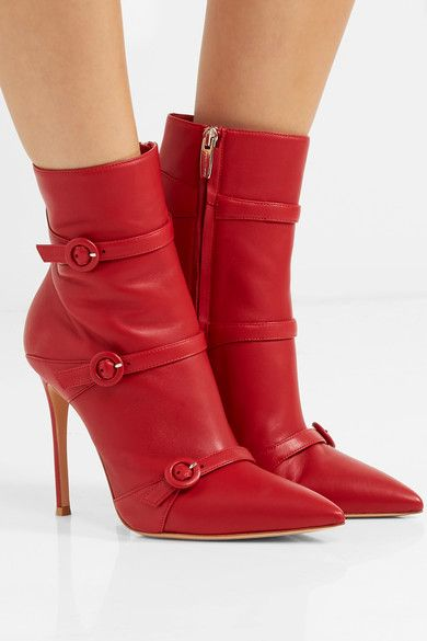 c4e36df20c9b0 GIANVITO ROSSI Robin glamorous buckled leather ankle boots | Fashion ...