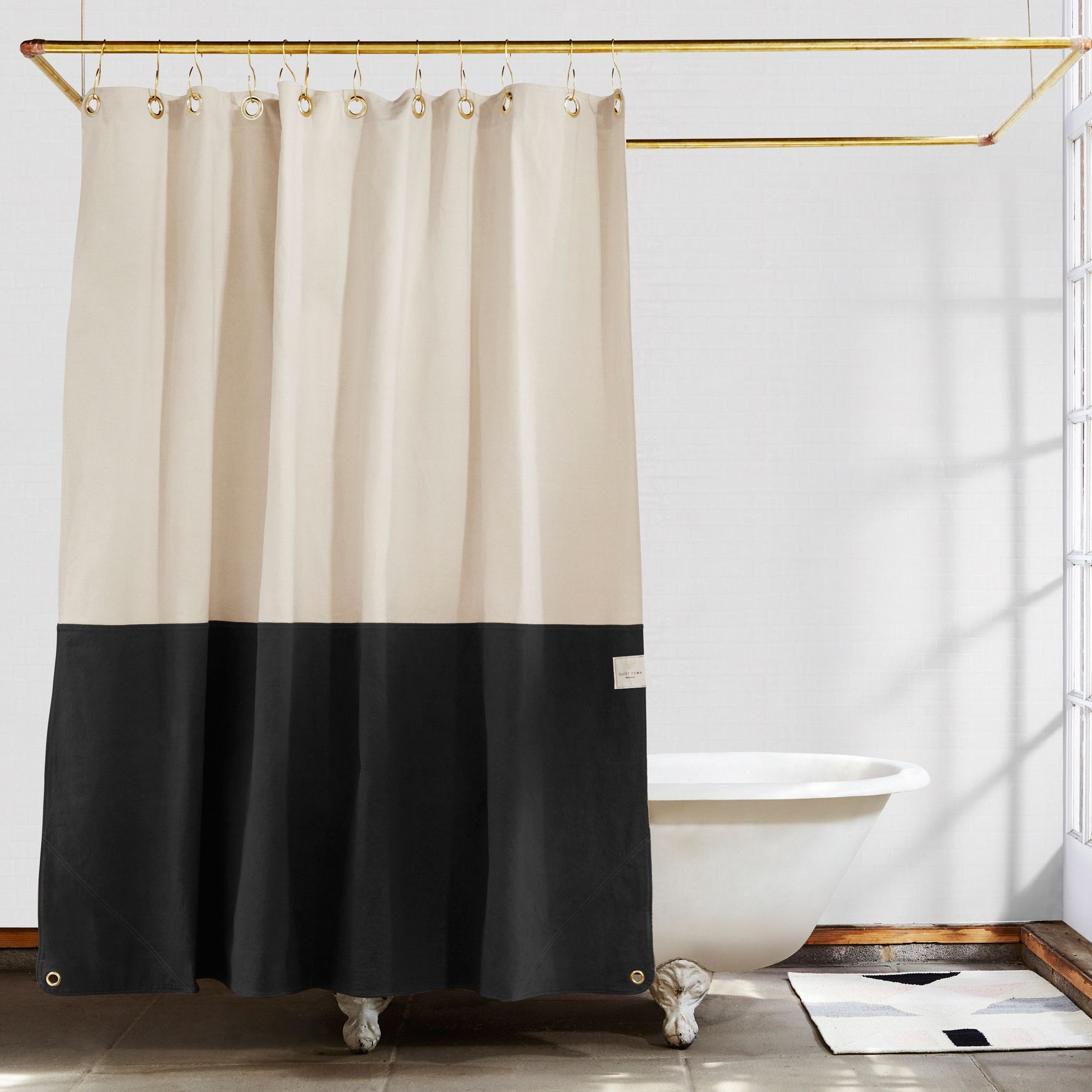 Orient Night Ride Color Blocked Shower Curtain Cool Shower