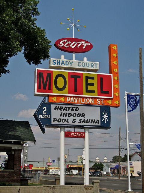 Scott Shady Court Motel Sign, Winnemucca, NV