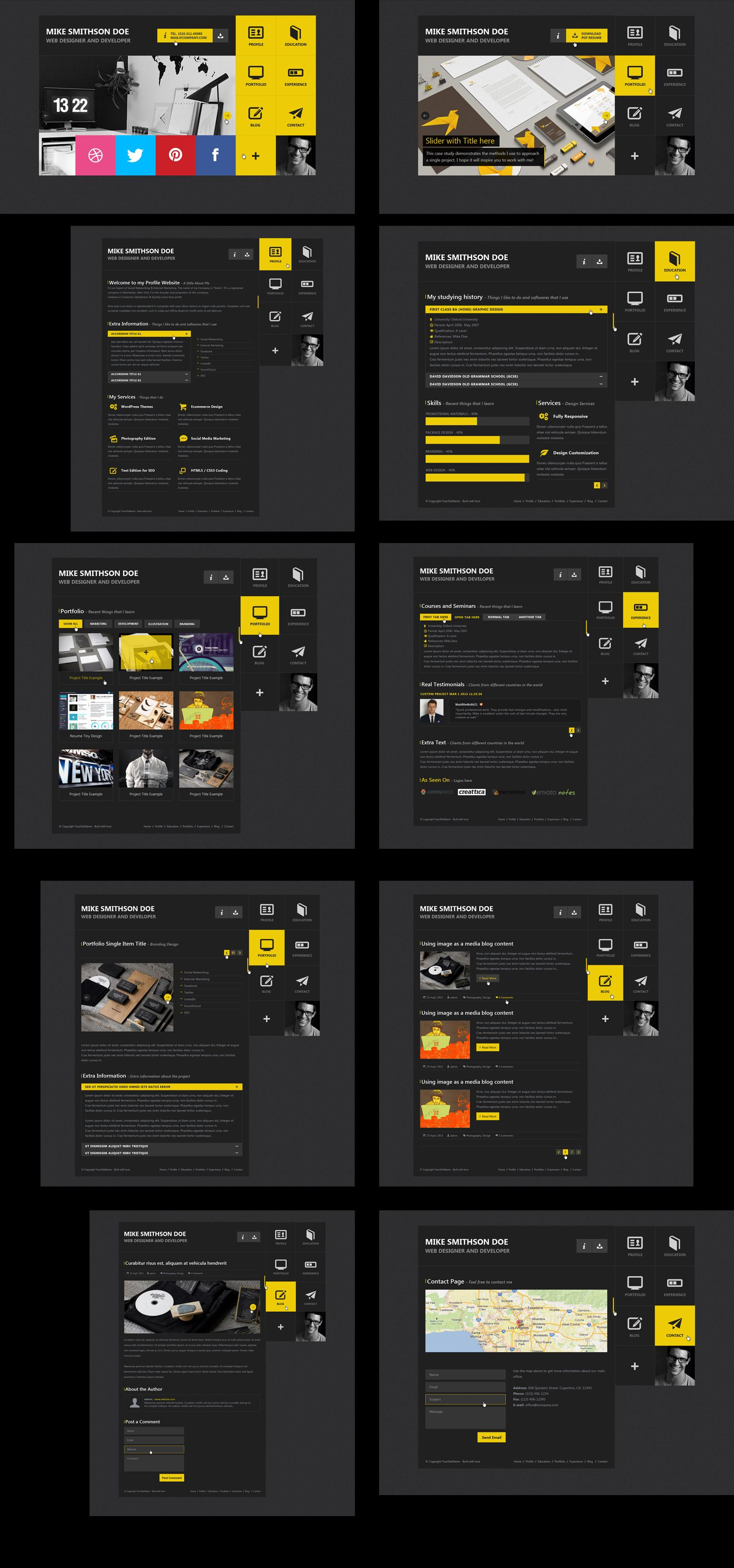 Flat resume virtual business card psd design webdesign template buy flat resume virtual business card psd by mustachethemes on themeforest flat resume html template available here description flat resume is a cheaphphosting