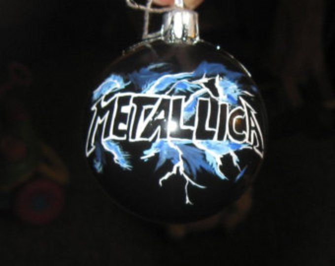 Metallica Christmas Ornament | Painted Ornaments ...