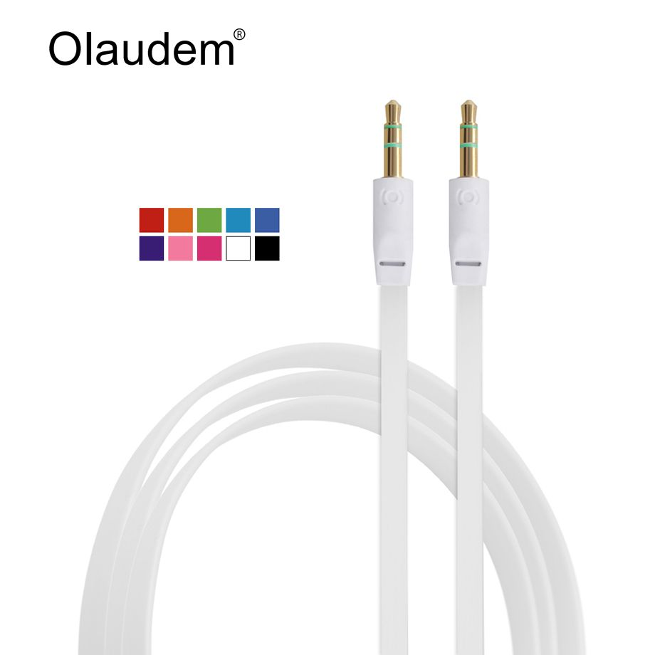 AUX Kabel 3.5mm Pria Pria Stereo Audio Ekstensi Kabel Datar untuk ...