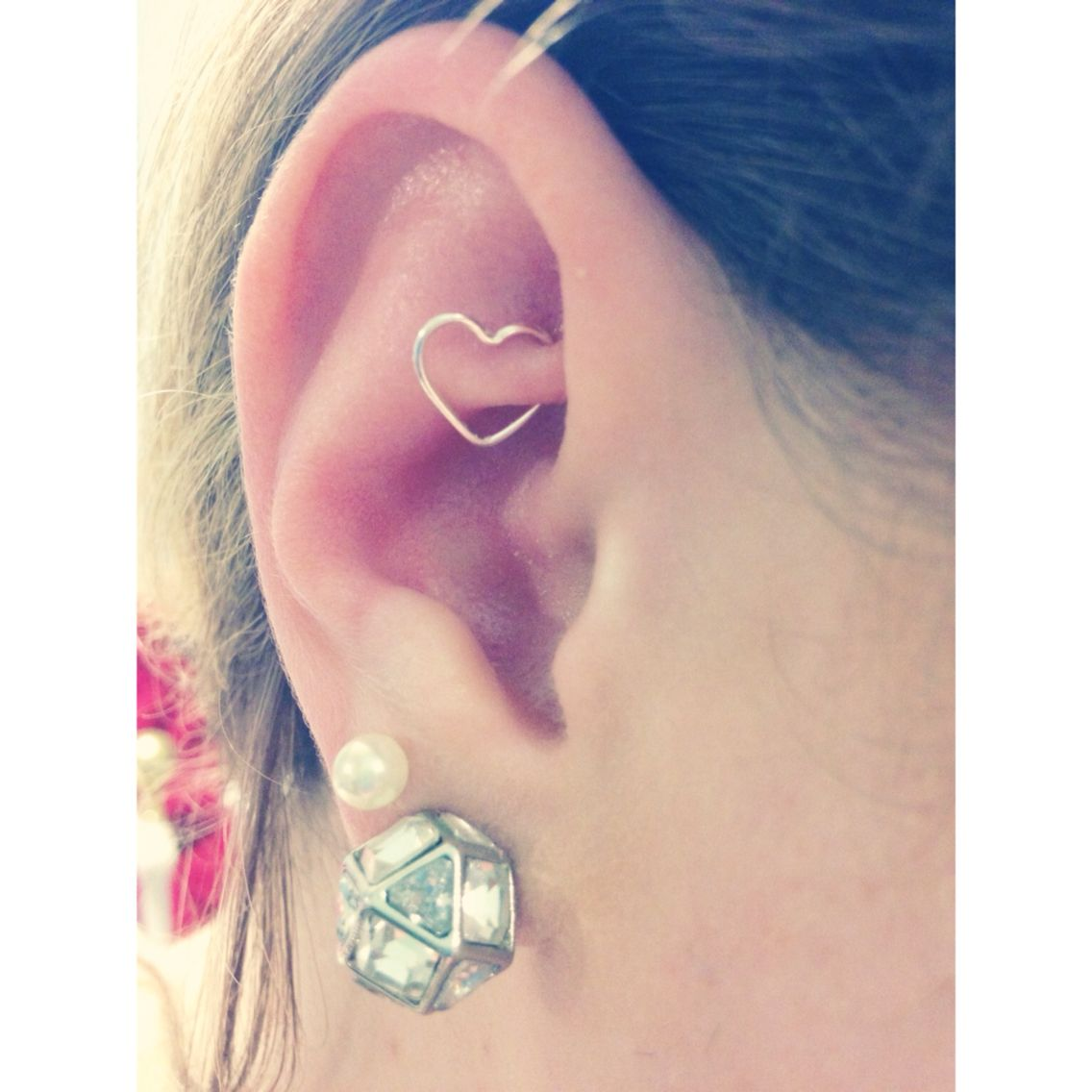 Earring piercing ideas  Rook heart piercing At Clairus for   Piercings  Pinterest