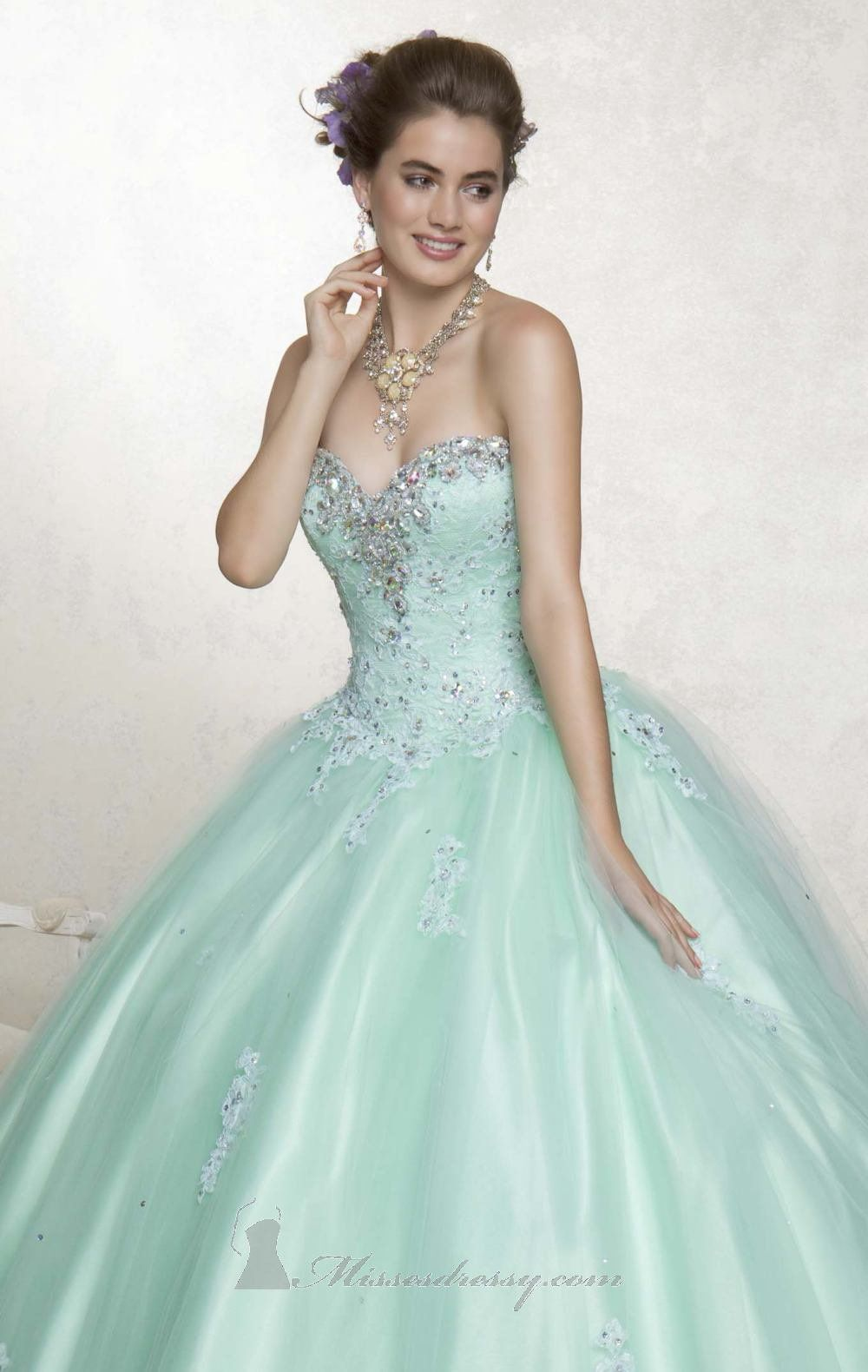 e9c324c86d9 Light Green Quinceañera Dress