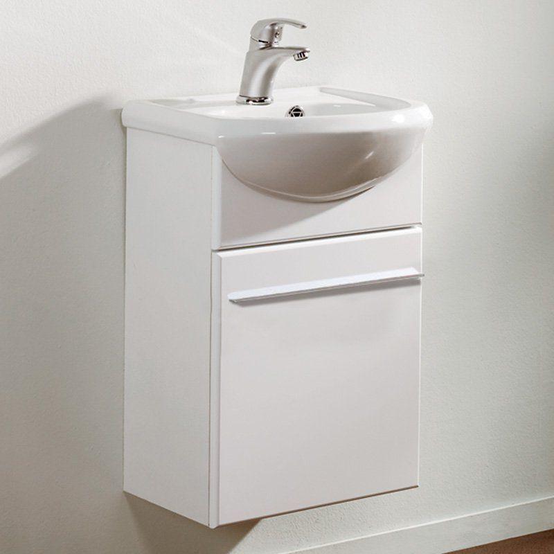 Eviva Venti 18 in. Single Sink Bathroom Vanity Set - EVVN17-18WH-INFINITY