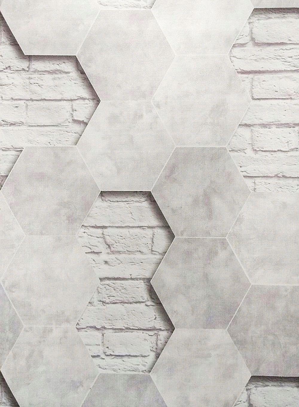 Wzory 3d Tapeta Na Flizelinie Heksagon I Mur 8414211942 Allegro Pl Restaurant Interior Flooring Interior