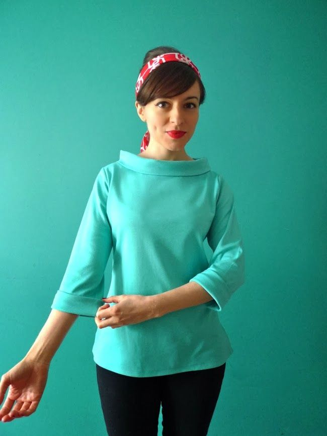 4935dc69e8 Add a collar to a boatneck top by Tilly and the Buttons  Hello Coco ...