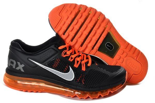 finest selection 0c233 8a73d Nike Air Max 2013 Black Orange Silver Men s shoes