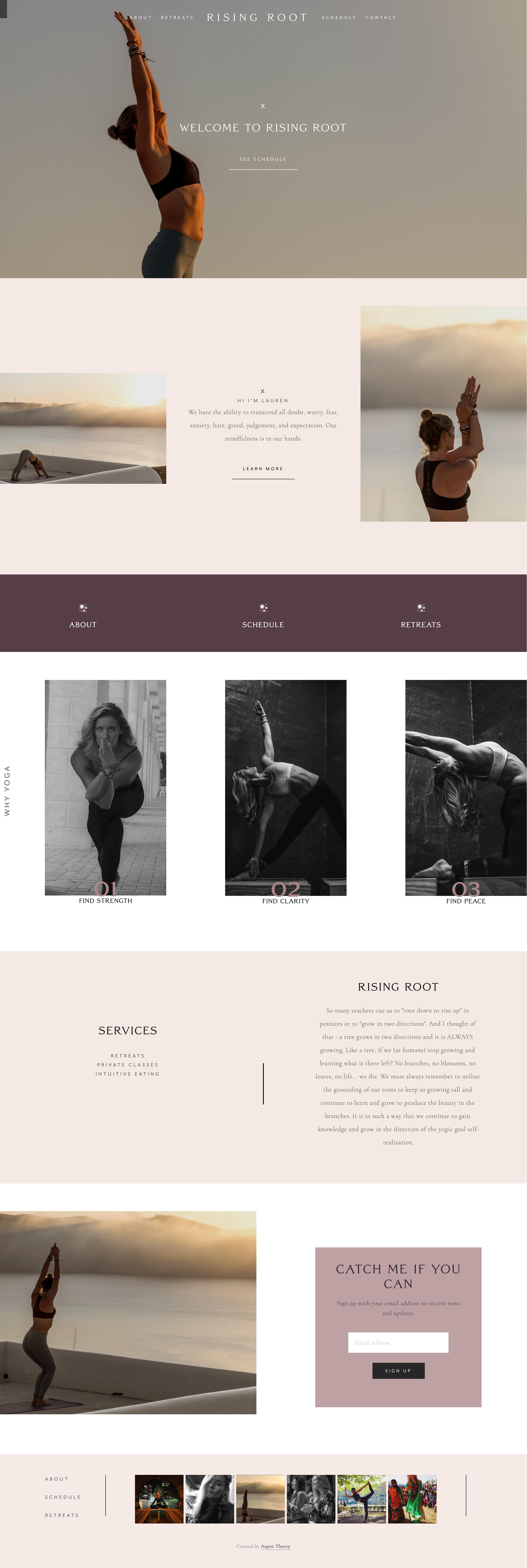 Squarespace Web Design Squarespace Web Design Simple Website Design Yoga Branding Design