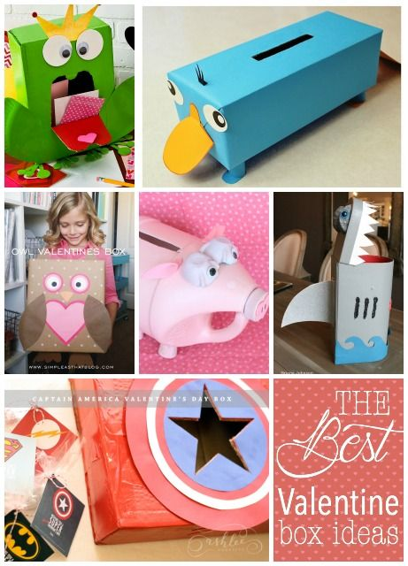 this is full of ideas for the perfect valentine boxes that your kids can take to - Kids Valentine Boxes