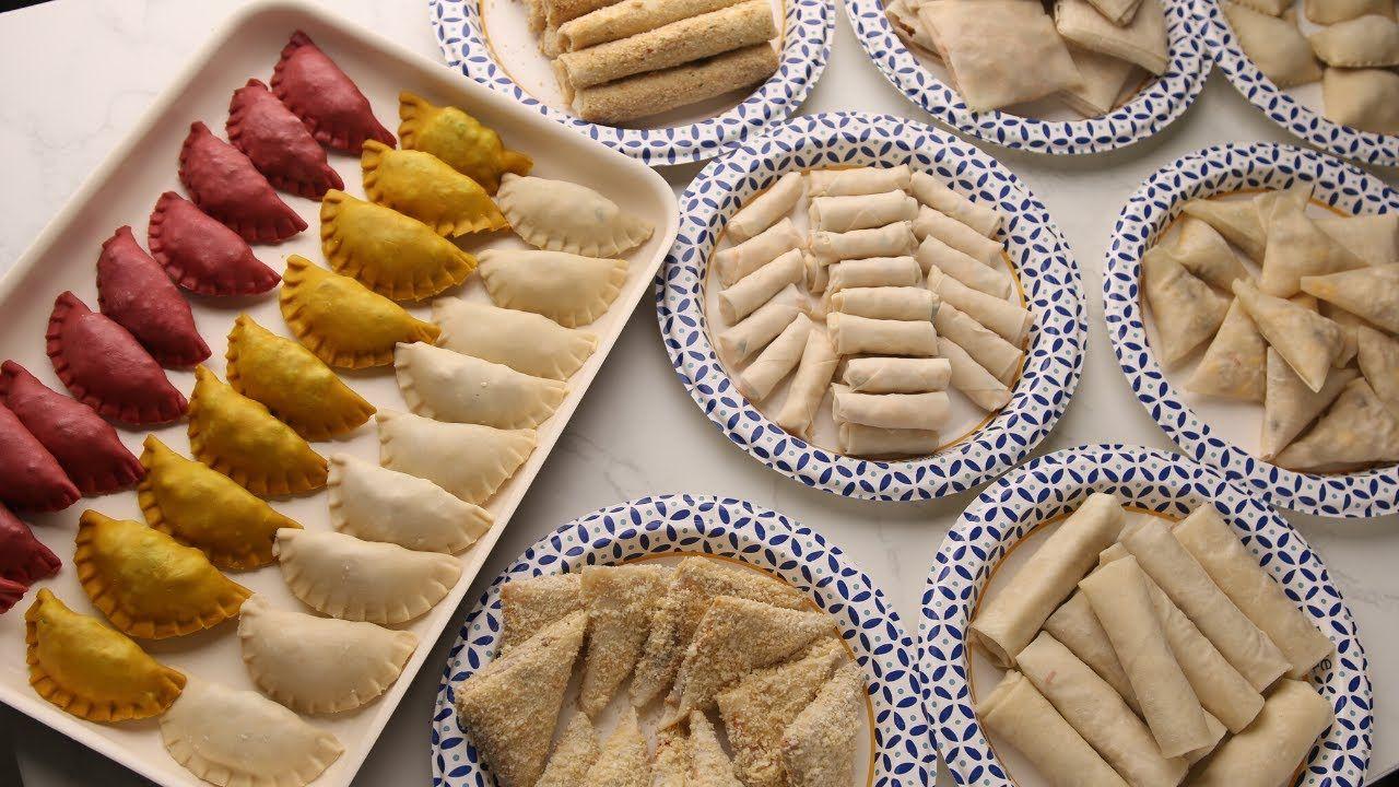 إزاي شوية دقيق وماء يحضروا مائدة أطباق لذيذة سمبوسة غير كل السمبوسات Youtube Cooking Cake Food Arabic Food