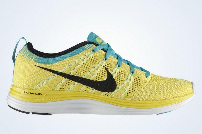 074f9ce1c0f9 Youth Big Boys Nike Flyknit Lunar 1 Electric Yellow Black Tour Yellow  Atomic Teal 554888 707