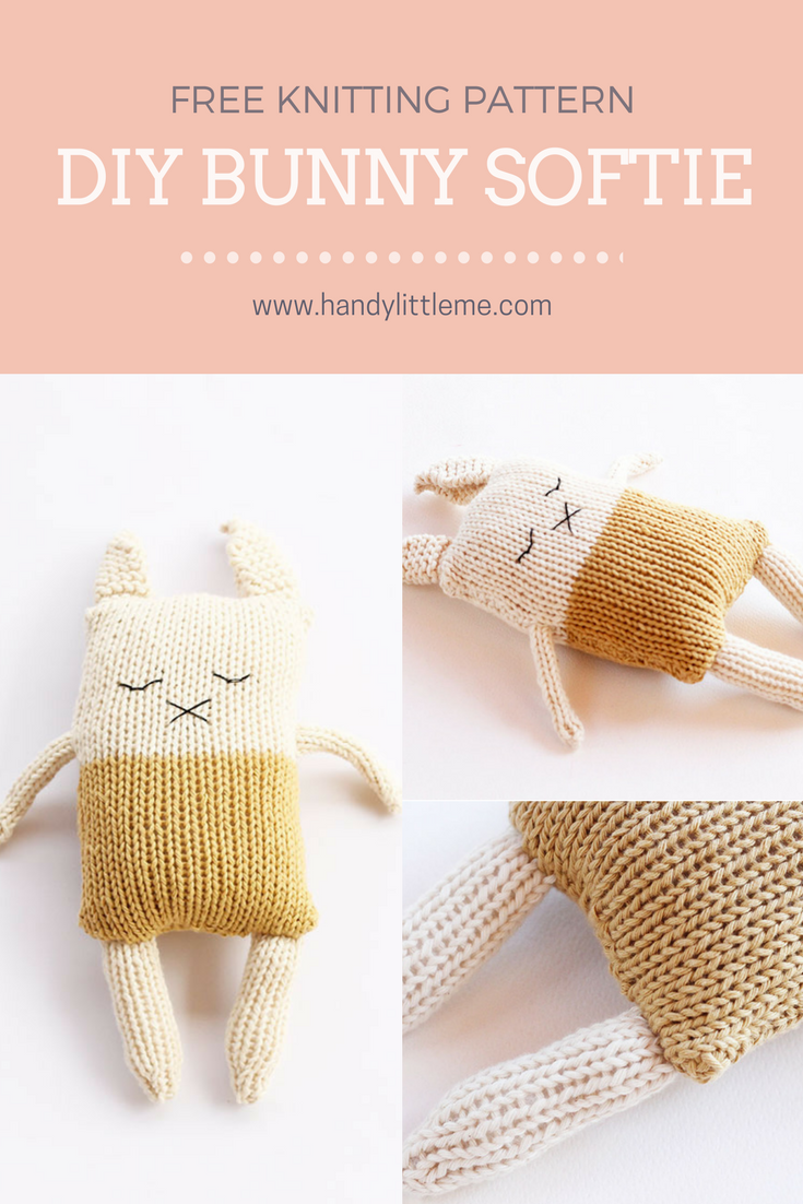 Bunny Softie Knitting Pattern PDF Download | CRAFTS - Crochet for ...