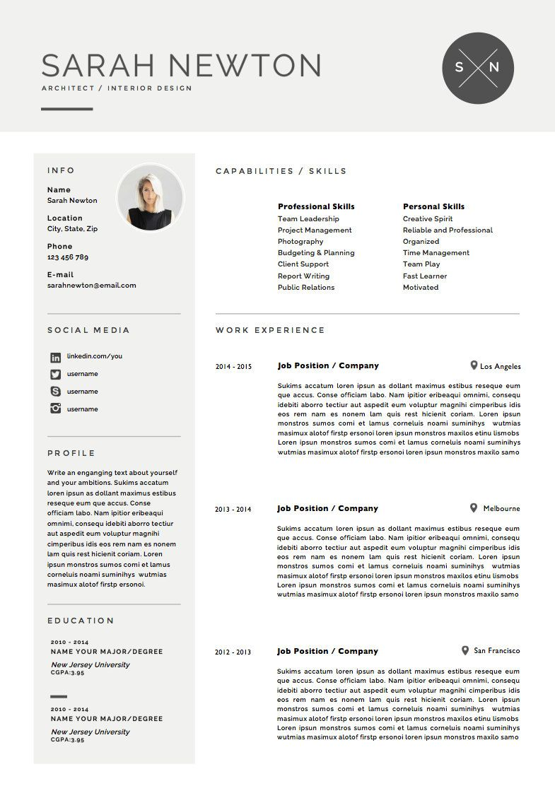 resume template and cover letter template for word