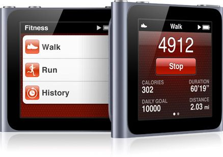 iPod Nano's fitness app is AMAZING! Tells you distance and