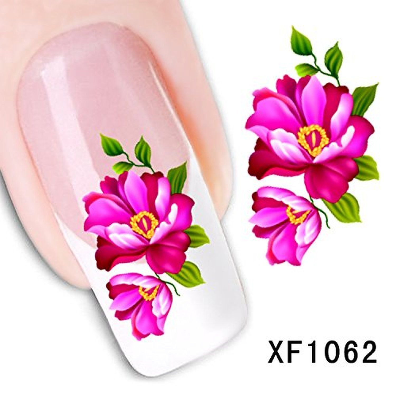 Generic 3d Nail Art Tips Stickers False Flower Nail Design Manicure