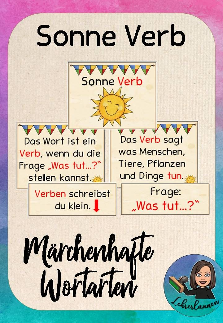 Verben Tafelmaterial Märchen – Aushänge