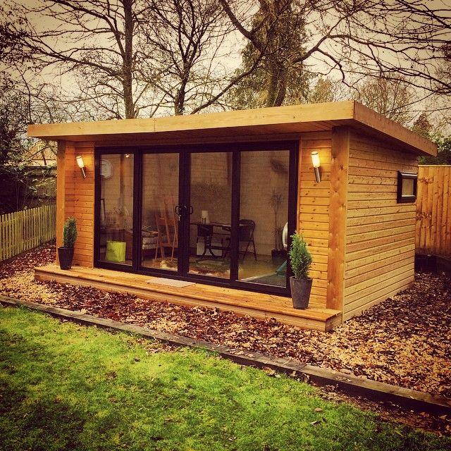 Artist Studio Overlooks Guest Cabin With Rooftop Garden: Garden Office? Art Studio? Man Cave? Gym? Teenage Hang Out