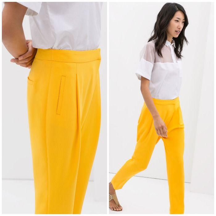 Photo of pantalon fluido amarillo zara BLOG