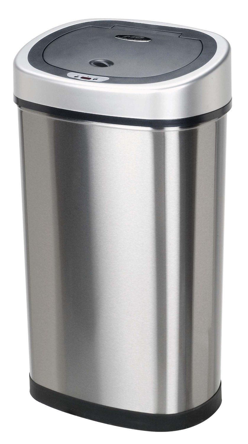 Nine Stars Infrared Touchless Stainless Steel Trash Can - $34.46 ...