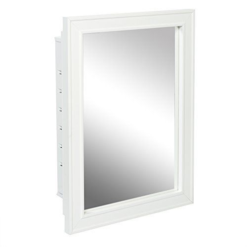 American Pride G9610r1w Recessed White Wood Framed Mirror Steel Tech Body Medicine Cabinet 16 Inch X 22 There Is A Simple Solution For Cle