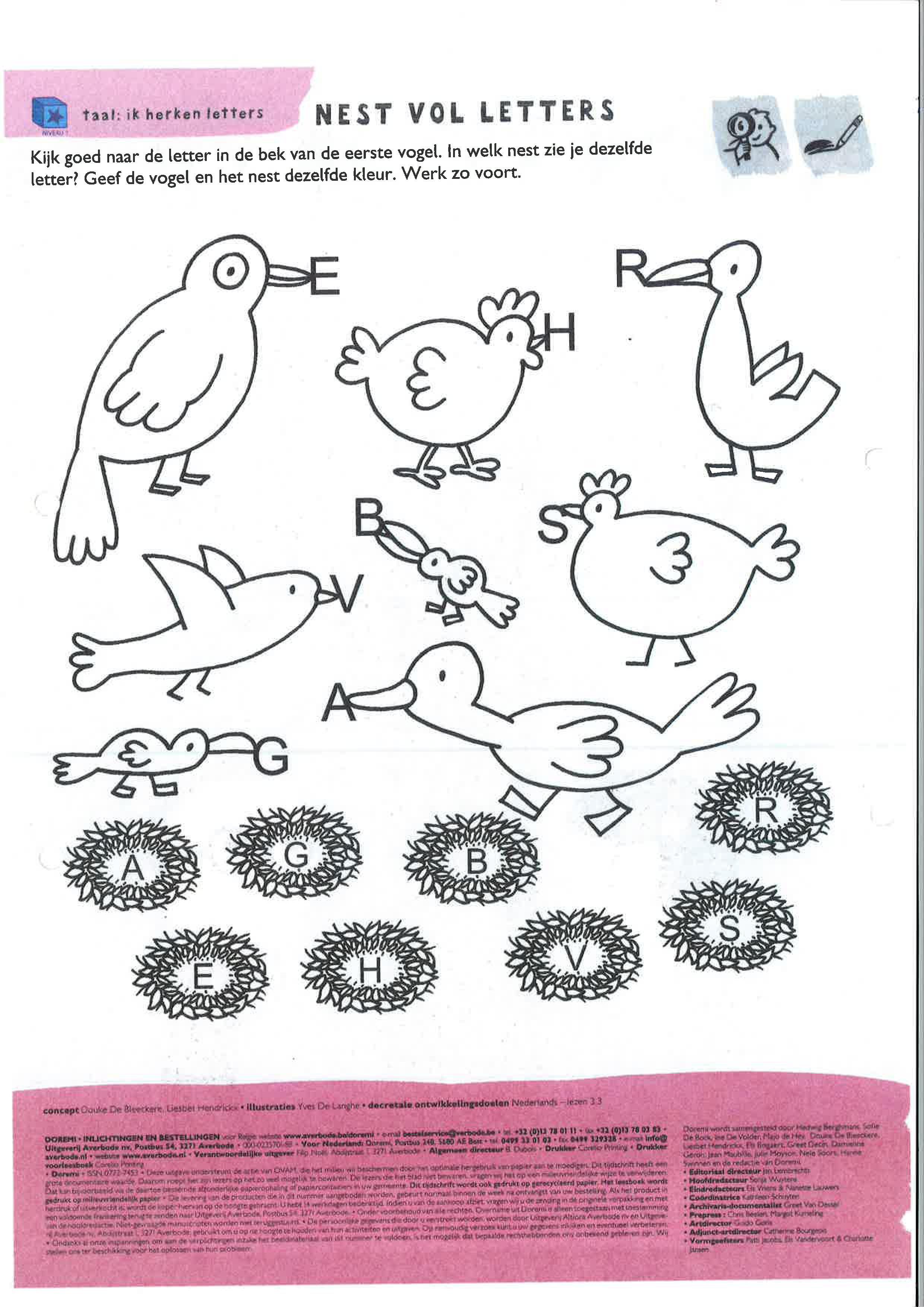 Letters Herkennen Niveau 1 In 2020 Vogels Kleuren Taal