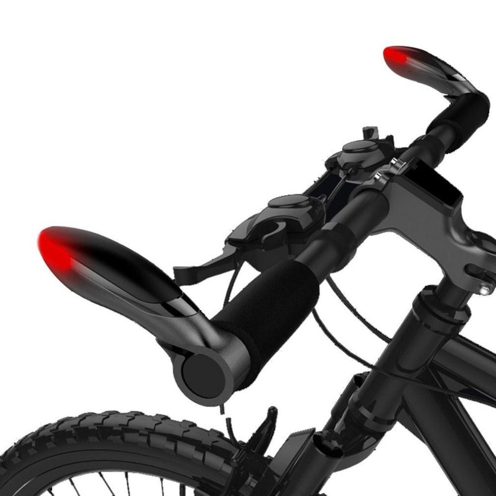 1pair Bicycle Aluminum Handlebar Bar Ends Turning Light Cycling