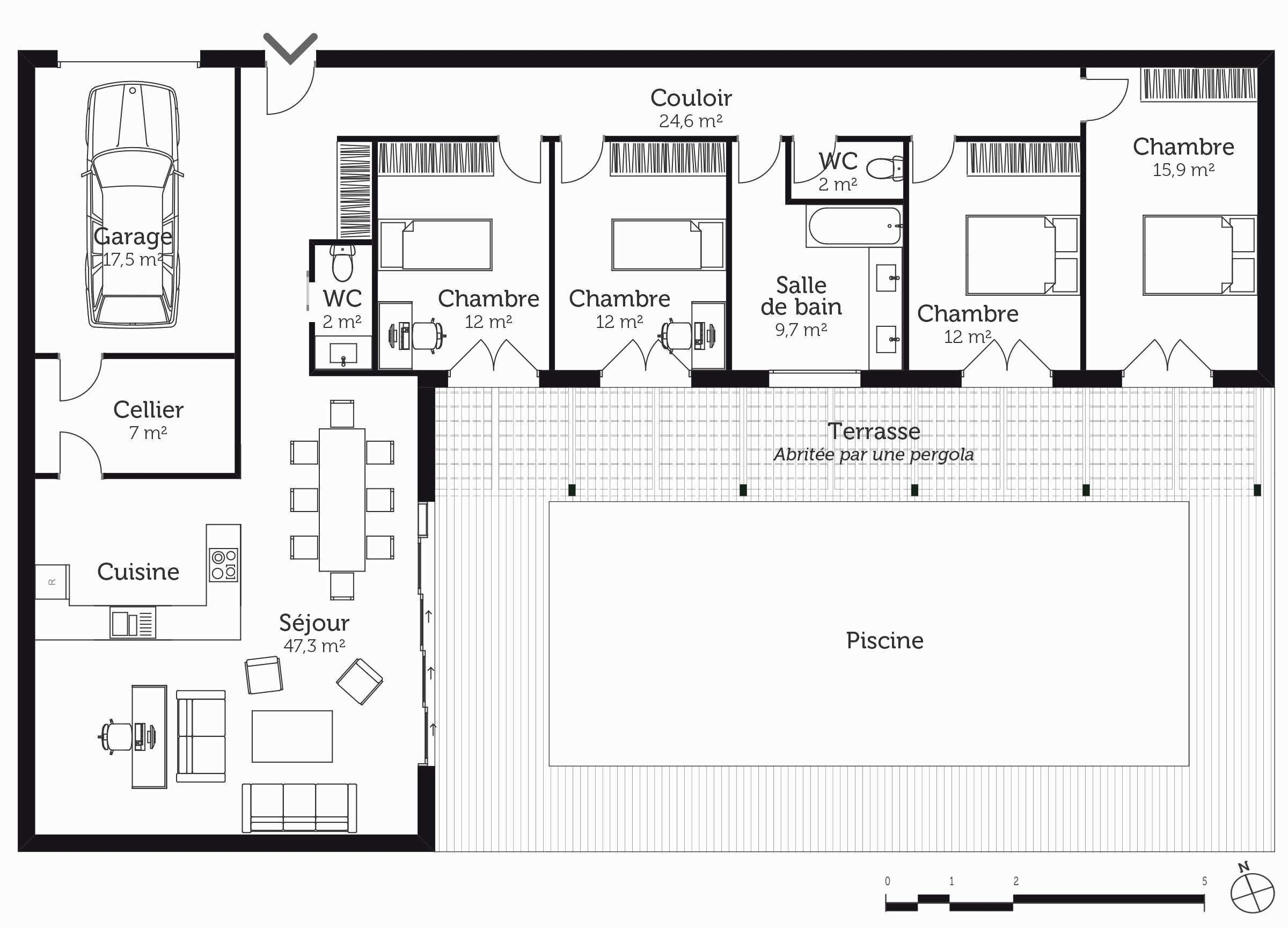 Plan De Maison De Luxe. Perfect Plan Maison Moderne ...